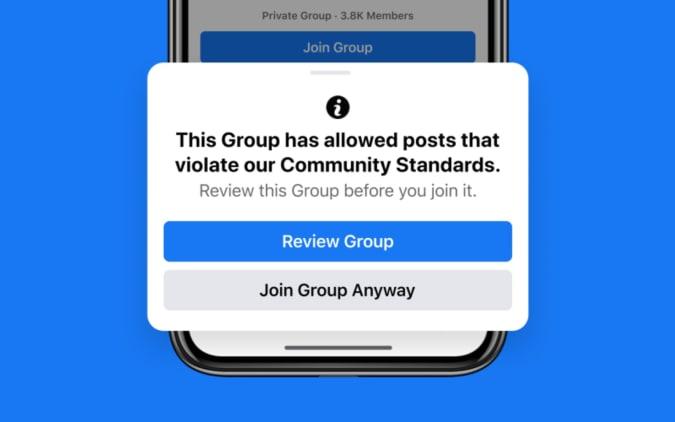 Notificación de grupo de Facebook