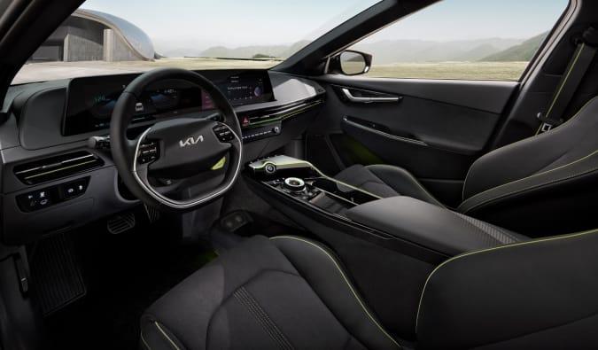 Interior of the EV6 GT