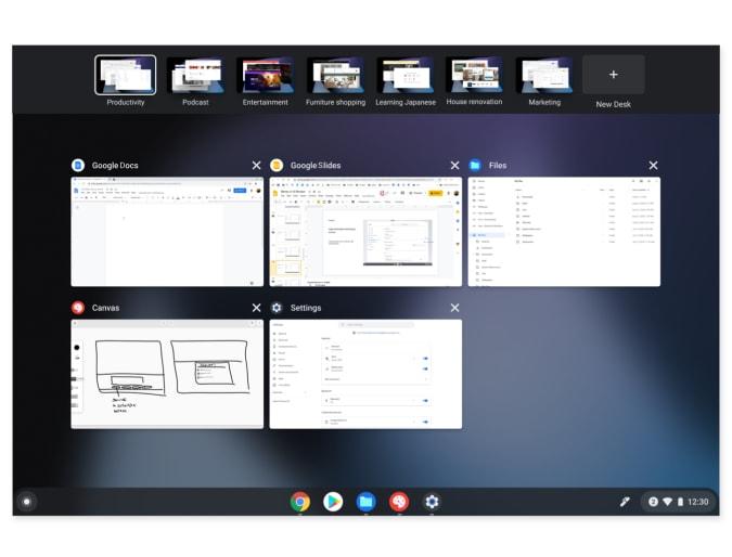 L'image de mise à jour du 10e anniversaire de Chrome OS prend en charge jusqu'à huit nouveaux tableaux et un mode de présentation