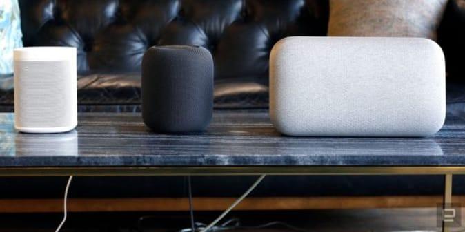Altavoces inteligentes de Sonos, Apple y Google