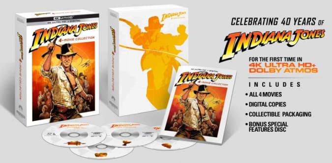 Indiana Jones 4K Blu-ray set