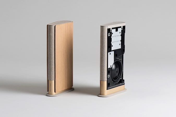 With a design inspired by a book, Bang & Olufsen's Beosound Emerge is an impressively slim and full-featured speaker.