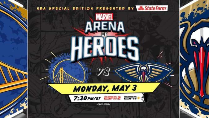 Arena de héroes con temática de Marvel de la NBA
