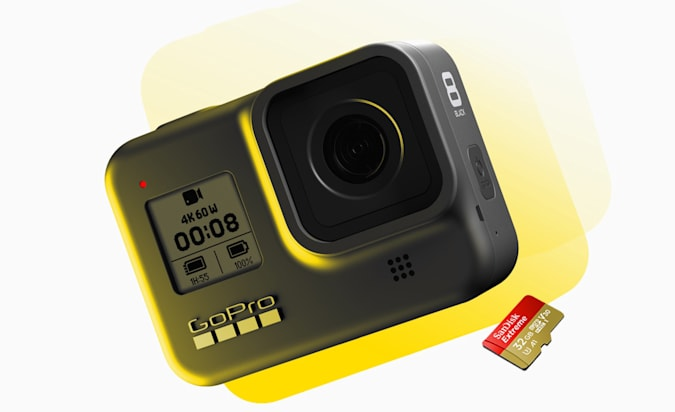 GoPro Hero8 Black action camera.