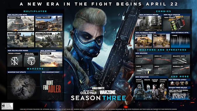 Call of Duty Black Ops Cold War season three