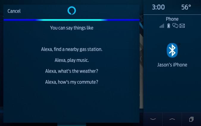 Ford Alexa built-in