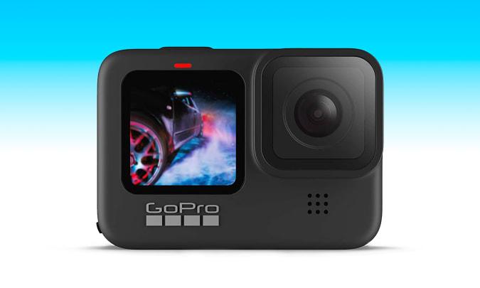 The GoPro Hero9 Black action camera.