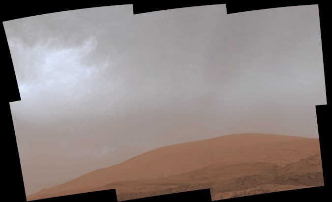 Cloudy weather on Mars