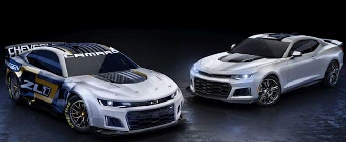 Chevrolet's Performance Design studio worked closely with racing engineering to optimize aerodynamics on the Next Gen Camaro ZL1 race car while incorporating features that undeniably showcase the similarities between the race car and production Camaro ZL1.