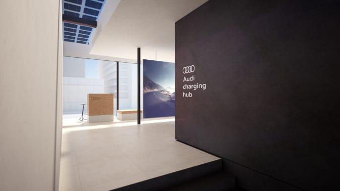 Audi is testing high-speed battery-powered EV charging hubs