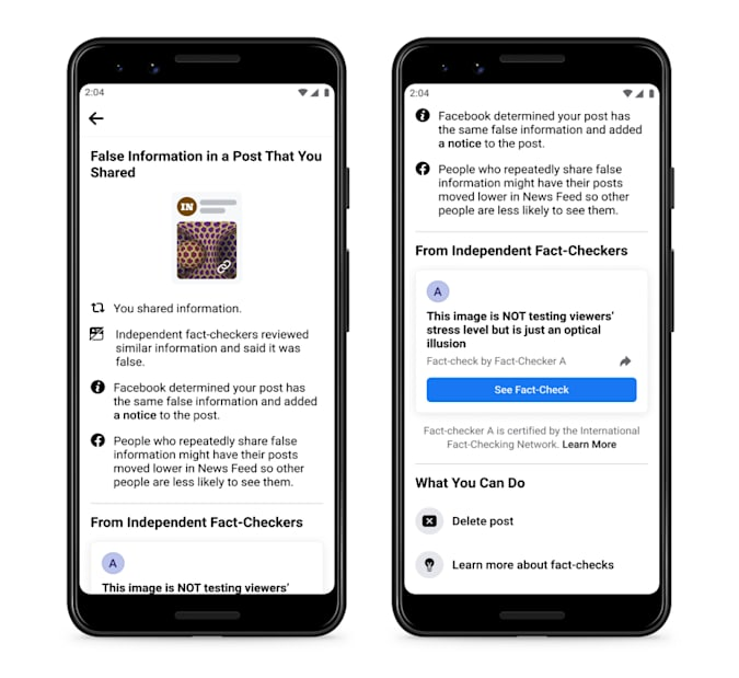facebook yanlış bilgi paylaşan kişileri uyaracaktır.