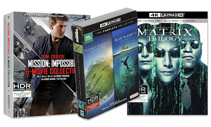 Entries on the Engadget 2021 Father's Day Home Entertainment gift guide: The Matrix Trilogy, Planet Earth II and Mission Impossible 6-movie collection