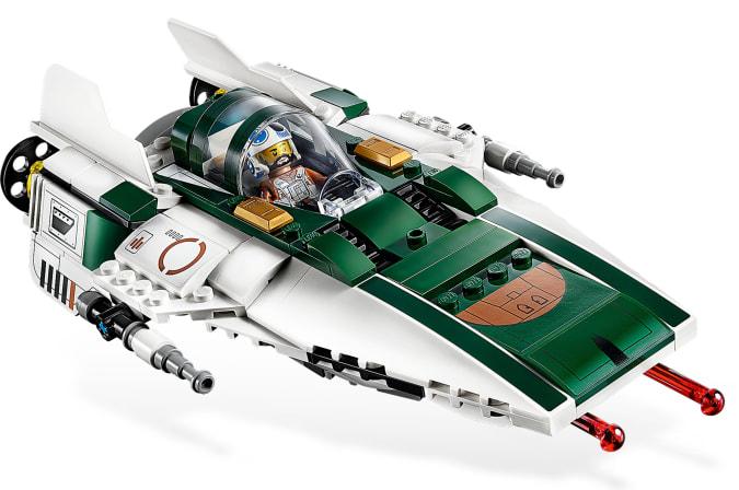 LEGO A-Wing with mini Greg Grunberg