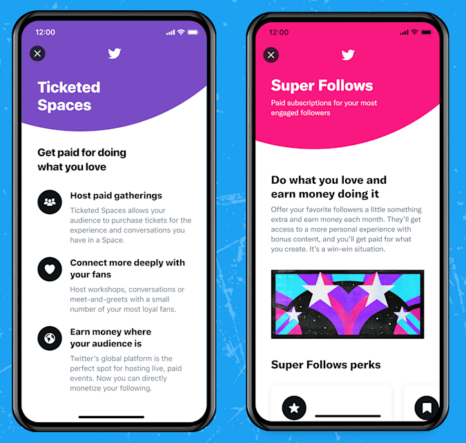 Twitter has two new monetization features.