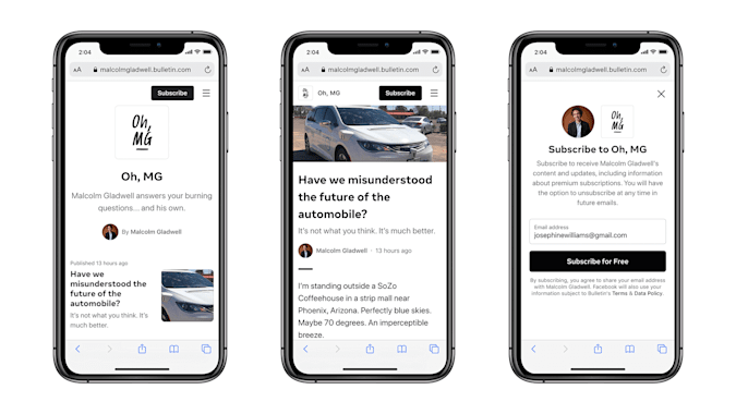 Newsletters will have their own branding.