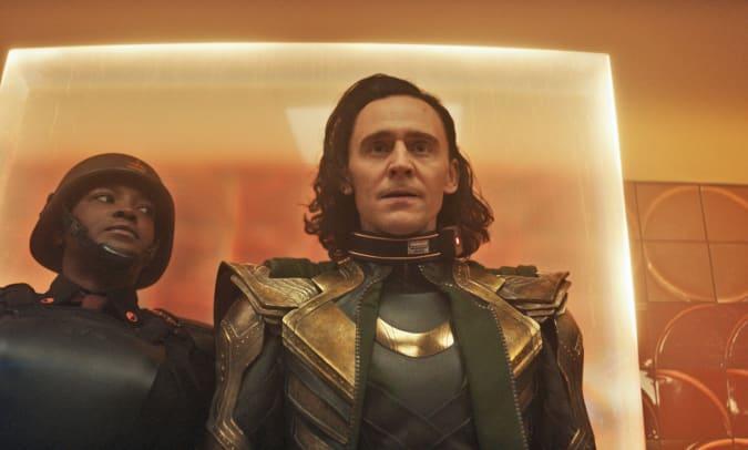 A still from the Disney TV series Loki.