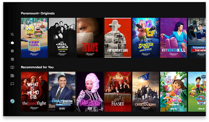 Pictured: Paramount+ interface design. Photo Cr: CBS2021 Paramount+, Inc. All Rights Reserved.