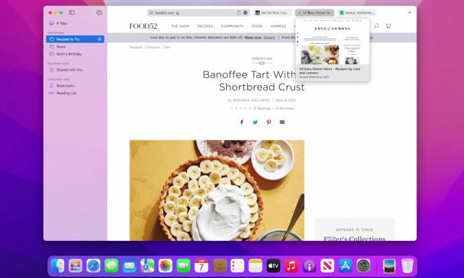 Safari on macOS Monterey and iOS 15