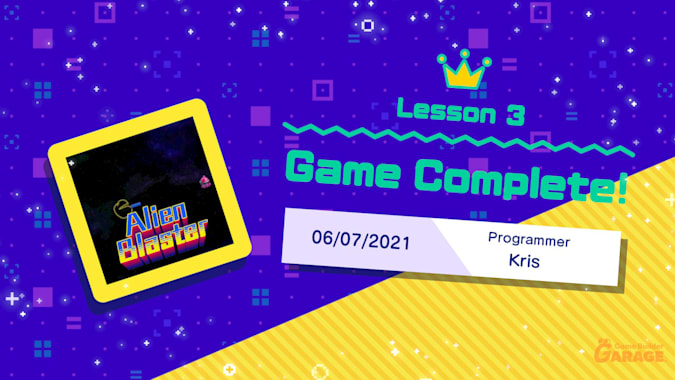 Lesson 3-The game is complete!