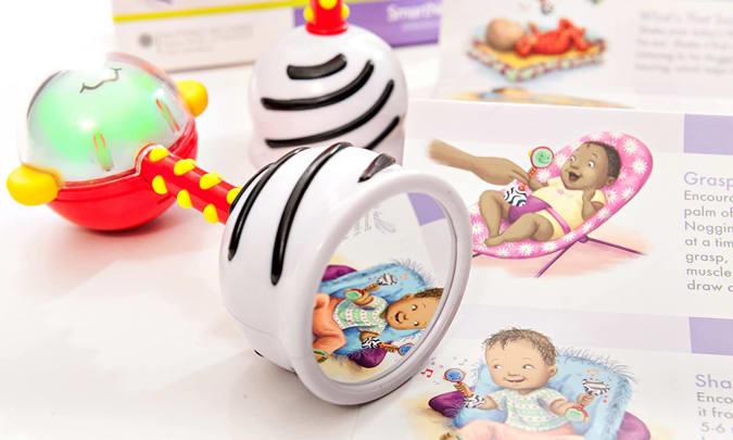 The SmartNoggin Nogginstick baby toy.