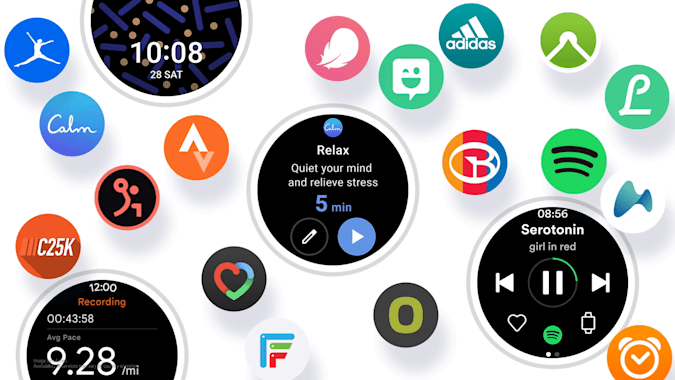 A screenshot showing the new Samsung One UI Watch experience based on Wear OS.