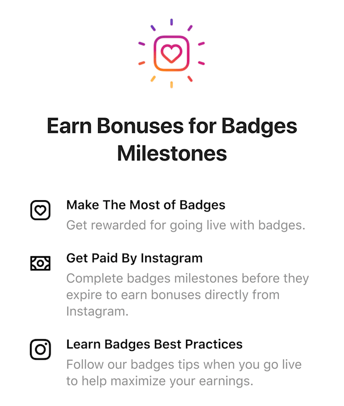 Instagram will reward creators who sell a lot of badges with 'extra cash'