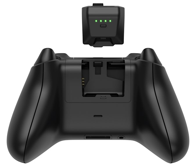 Power Swap Controller Batteries from rear