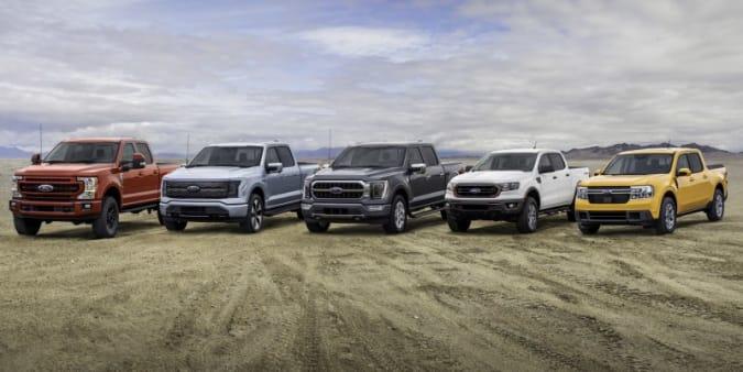 Ford Trucks lineup