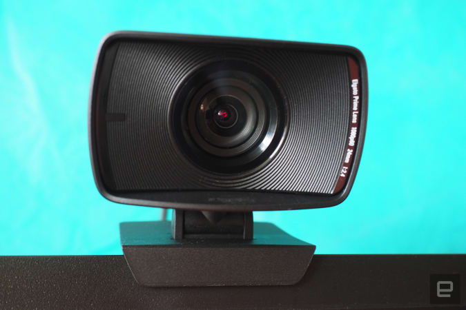 Elgato FaceCam mounted on a monitor