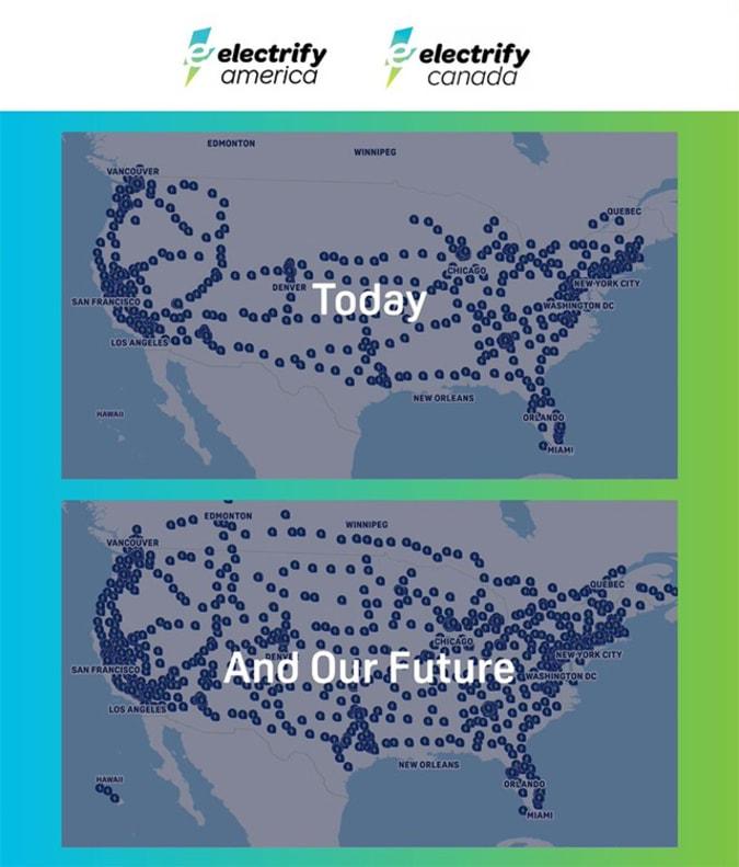 Electrify America Boost Plan 2025 EV charger map
