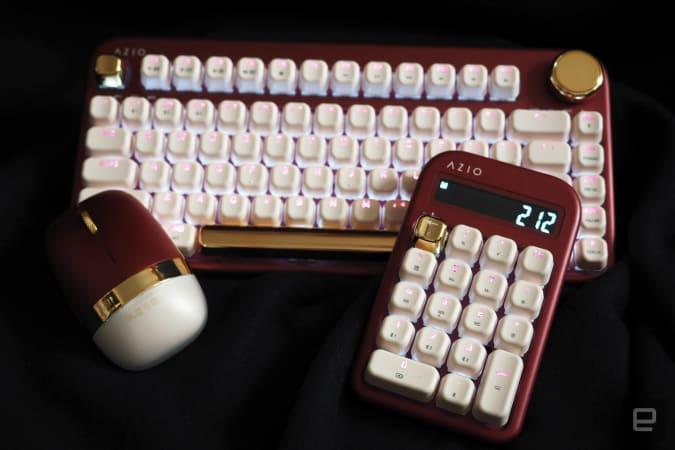 Mouse, keypad, keyboard