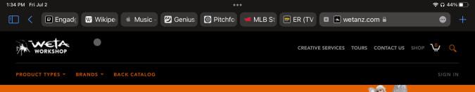 iPadOS 15 Safari menu bar