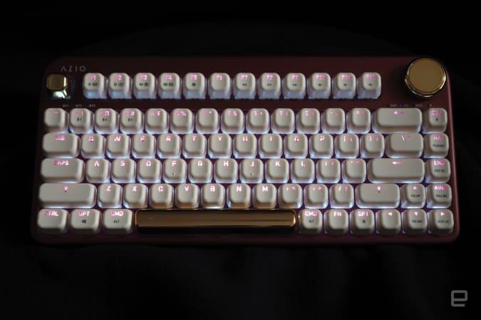 AZIO IZO keyboard in pink