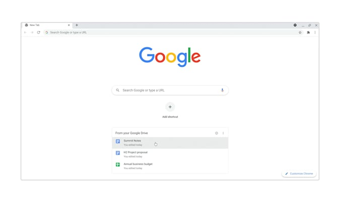 Google Chrome beta latest business cards