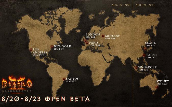 Diablo II Resurrected beta timing
