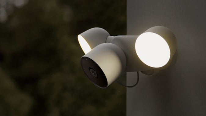 Google Nest Cam with spotlights