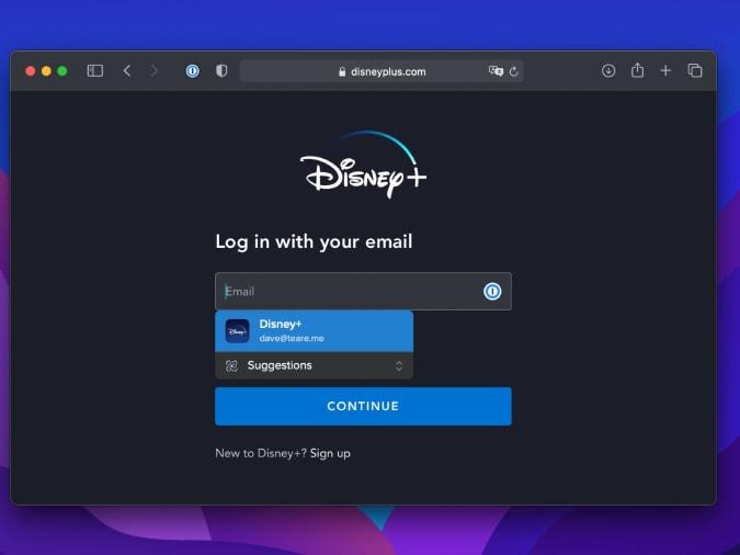 1Safari with built-in password