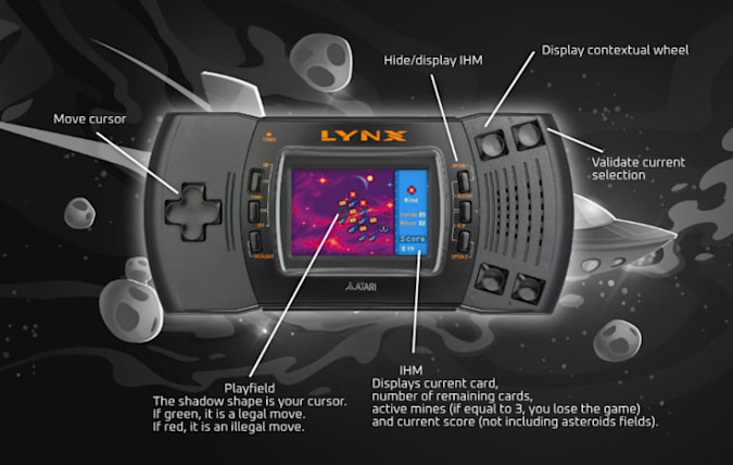Asteroid Chasers for the Atari Lynx