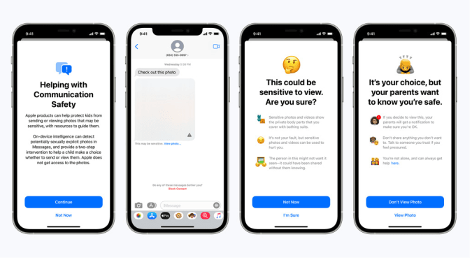 Apple's new Messages feature for children will send warnings when sexually explicit images are sent or received.