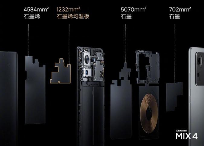 Xiaomi Mi Mix 4 heat sink