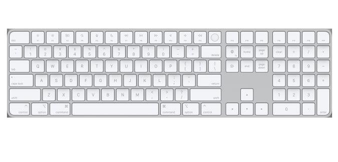 Teclado Apple Magic com Touch ID e teclado numérico