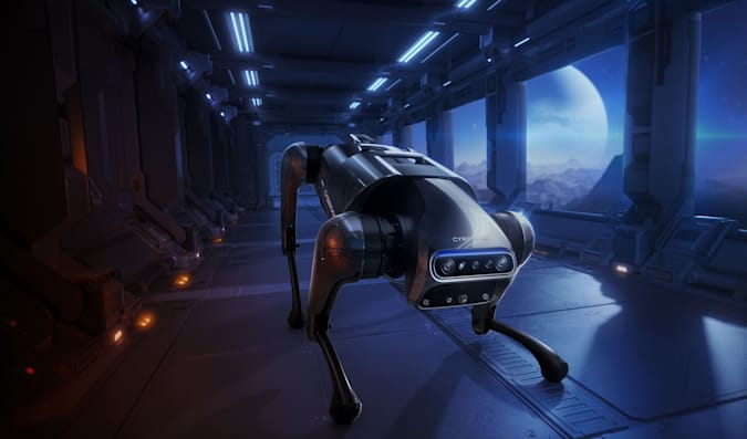 Render of Xiaomi's robot dog, the CyberDog, not to be confused with the British clothing retailer.