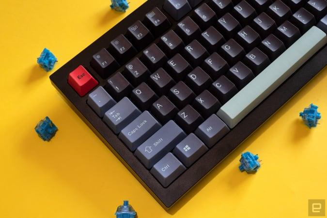 Keychron Q1 customizable keyboard.