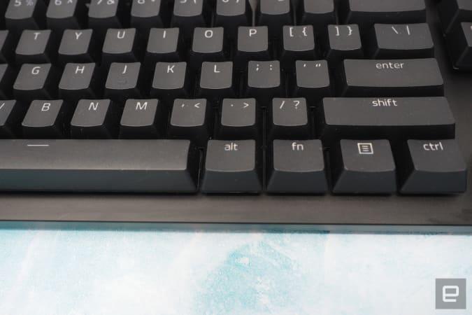 Keys on the Razer Huntsman v2