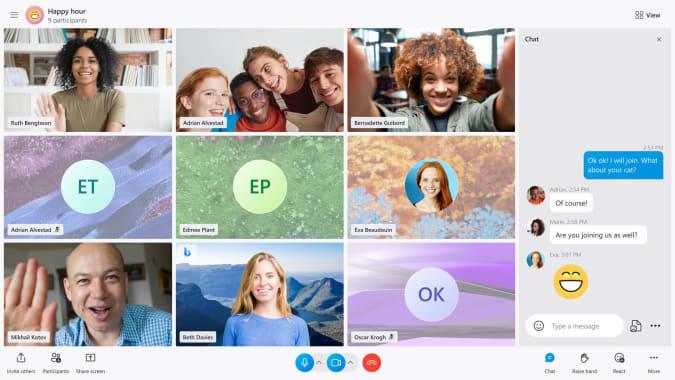 Skype video call redesign