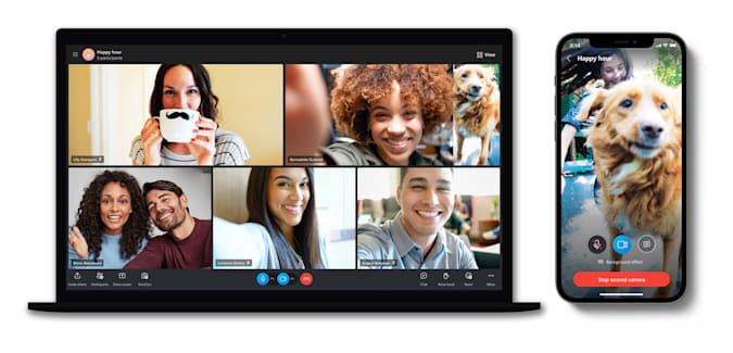 Skype TwinCam feature