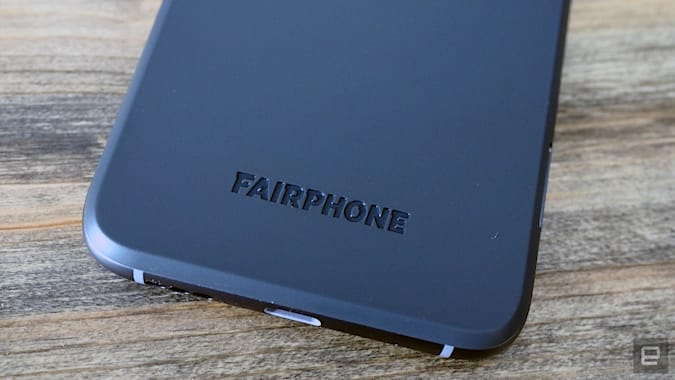 Images of the Fairphone 4 during a brief hands-on with the device in anticipation of its launch.