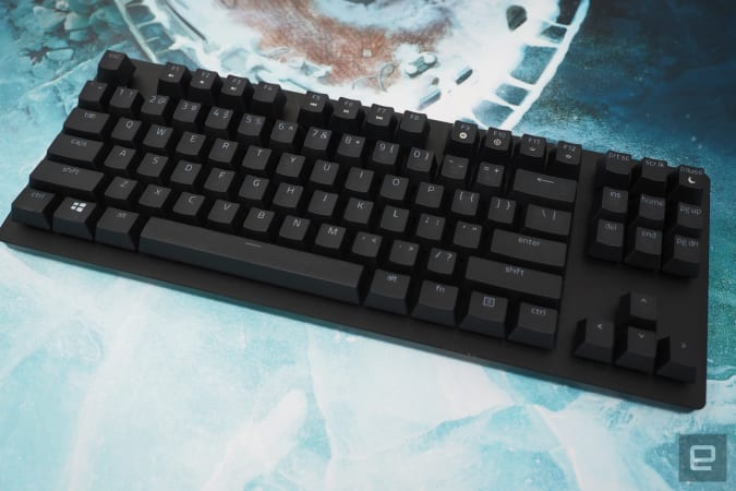 keyboard in black on a blue background
