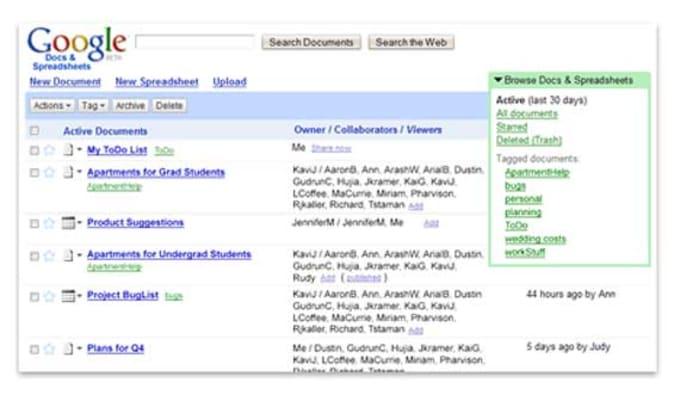 Google Docs 2006