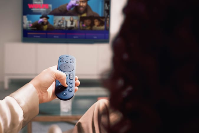 Image of the new Sky Glass voice remote